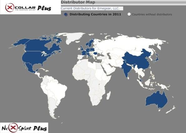 Worldwide Distributor Map - Emegear - 2011